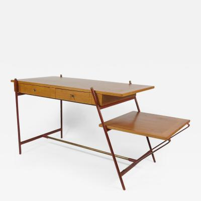 Jacques Adnet Rare asymmetrical desk