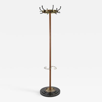 Jacques Adnet Stitched Leather Coat Rack
