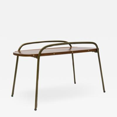 Jacques Adnet Stitched Leather Cocktail table By Jacques Adnet
