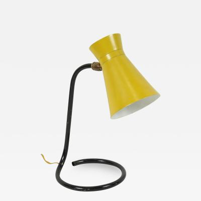 Jacques Biny Jacques Biny Cocotte Yellow Table Lamp for Luminalite
