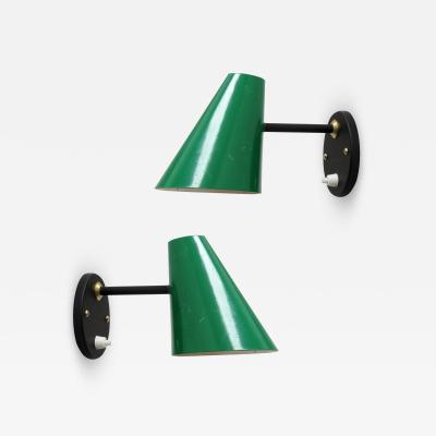Jacques Biny Pair of Jacques Biny Wall Lamps 1950