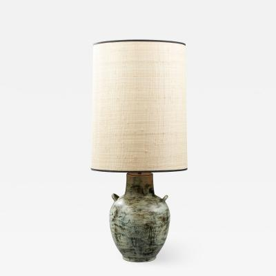 Jacques Blin JACQUES BLIN 1920 1995 CERAMIC LAMP CIRCA 1950