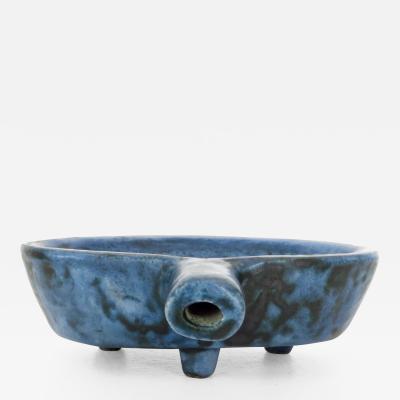 Jacques Blin JACQUES BLIN FRENCH CERAMIC ARTIST DARK BLUE CERAMIC BOWL 1960