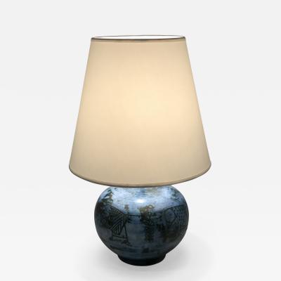 Jacques Blin Jacques Blin Blue Ceramic Lamp