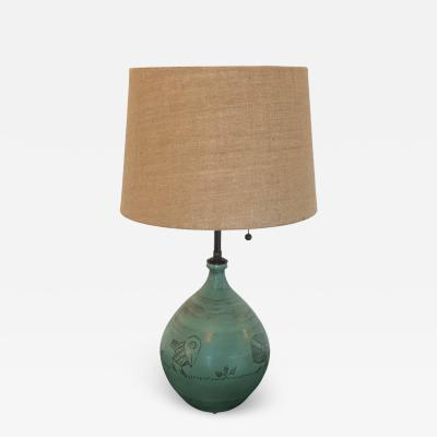 Jacques Blin Jacques Blin French Art Pottery 1960s Table Lamp