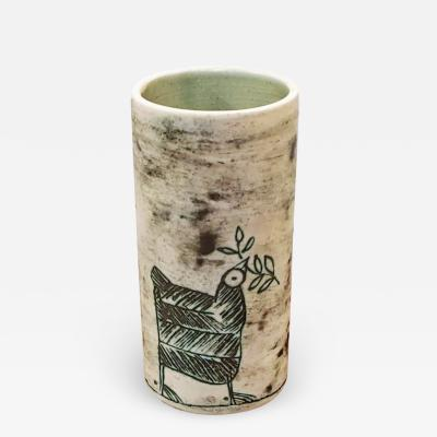 Jacques Blin Jacques Blin Vase With Bird Motif