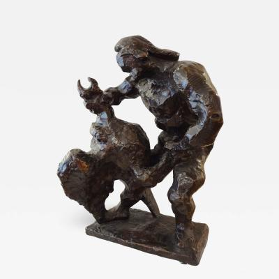 Jacques Chaim Jacob Jacques Lipchitz Sculpted Bronze Prometheus and the Vulture 1936 by Jacques Lipchitz