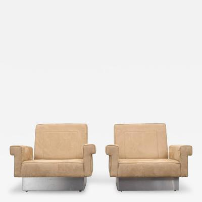Jacques Charpentier Pair of Jacques Charpentier Lounge Chairs Circa 1975
