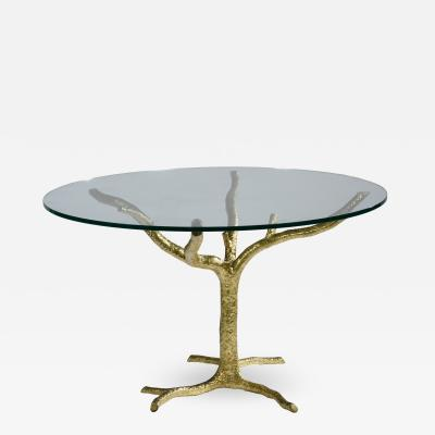 Jacques Duval Brasseur Brass Tree Center Table by Jacques Duval Brasseur