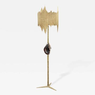 Jacques Duval Brasseur Exceptional Brass Floor Lamp by Jacques Duval Brasseur