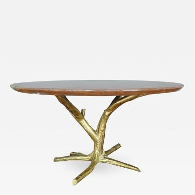 Jacques Duval Brasseur Important circular table by J Duval Brasseur 1980