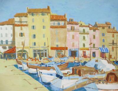 Jacques GASTON MOREAU La Cote dAzur Sur le Petit Port