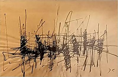Jacques Germain Jacques Germain Untitled Original Signed Ink C 1970