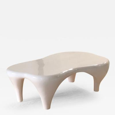 Jacques Jarrige Coffee Table in White Lacquer by Jacques Jarrige Toro