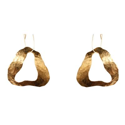 Jacques Jarrige Gold plated Earrings Cloud by Jacques Jarrige