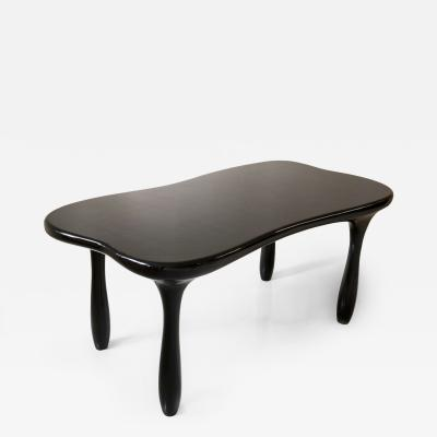 Jacques Jarrige Large Sculpted Desk Table in Lacquer by Jacques Jarrige