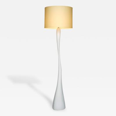 Jacques Jarrige Leda Floor Lamp in White Lacquer
