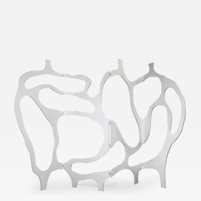 Jacques Jarrige Meander Screen in White lacquer by Jacques Jarrige