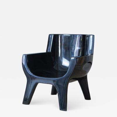 Jacques Jarrige Sculpted Lacquered ARMCHAIR Aubrac by Jacques Jarrige