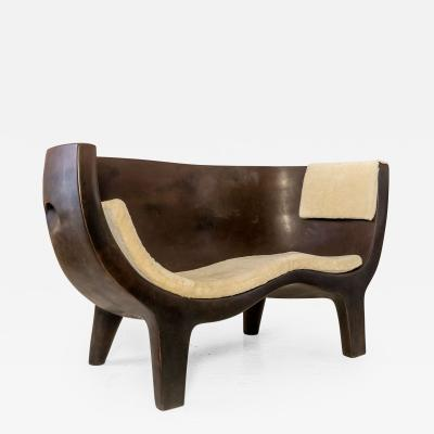 Jacques Jarrige Sculpted Sofa Love Seat Settee by Jacques Jarrige