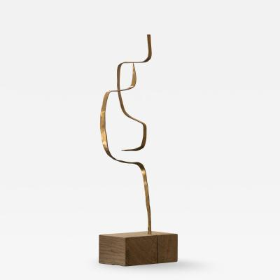 Jacques Jarrige Stabile in Brass by Jacques Jarrige Angel 4
