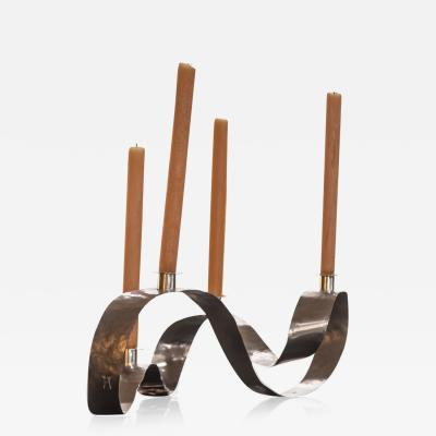 Jacques Jarrige Waves Candelabra by Jacques Jarrige