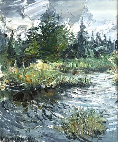 Jacques Kupfermann Expressionist Landscape With Lake