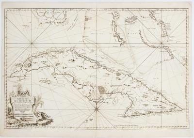 Jacques Nicolas Bellin 18th century sea chart of Cuba