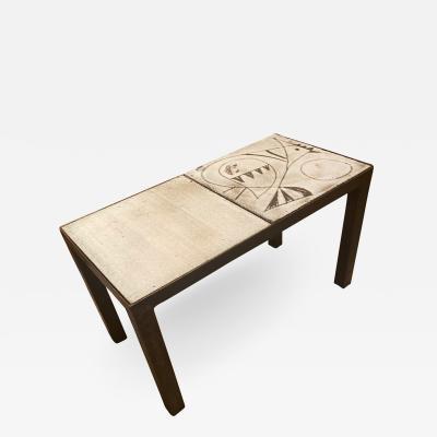 Jacques Pouchain Ceramic Coffee Table Dieulefit France 1950s