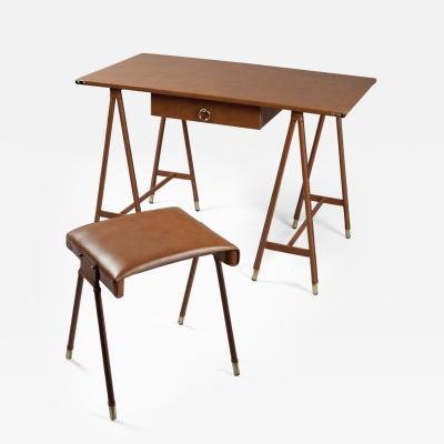 Jacques Quinet Desk and Stool by Jacques Quinet 1918 1992 France 1940s