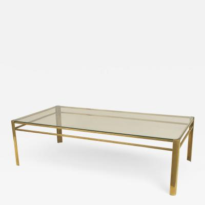 Jacques Quinet French Mid Century Bronze and Glass Coffee Table