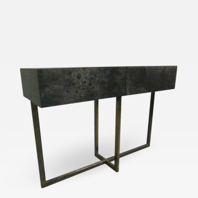 Jacques Quinet French Mid Century Modern Credenza Console Sofa Table by Jacques Quinet 1970