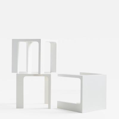 Jacques Quinet JACQUES QUINET WHITE LACQUER TABLES