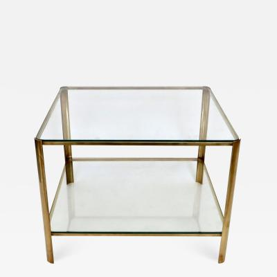 Jacques Quinet Jacques Quinet French Bronze and Glass Double Level Side or Coffee Table
