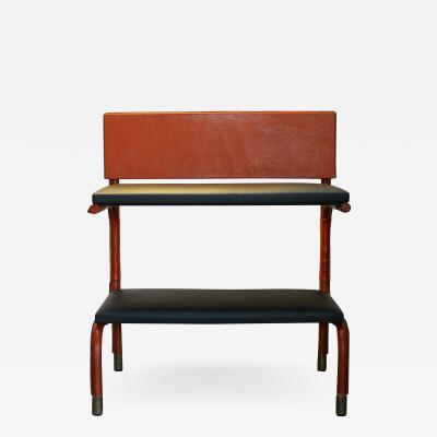 Jacques Quinet Jacques Quinet Shelf Table Red and Black Leather