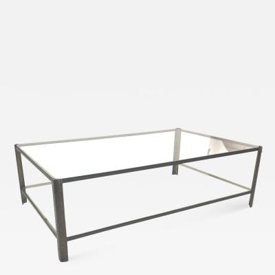Jacques Quinet Jacques Quinet big 2 tier Bronze and Glass coffee table