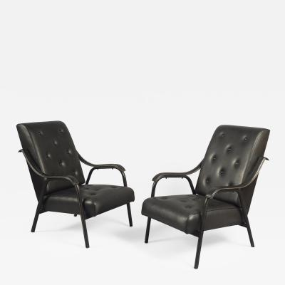 Jacques Quinet Pair of Armchairs attributed to Jacques Quinet 1918 1992 France 1950s