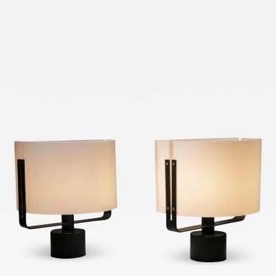 Jacques Quinet Pair of Two Table Lamps by Jacques Quinet