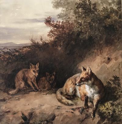 Jacques Raymond Brascassat Foxes