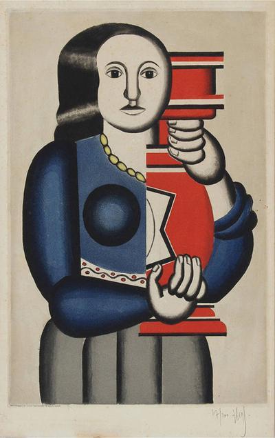 Jacques Villon Jacques Villon Print after Fernand Leger Femme Tenant un Vase