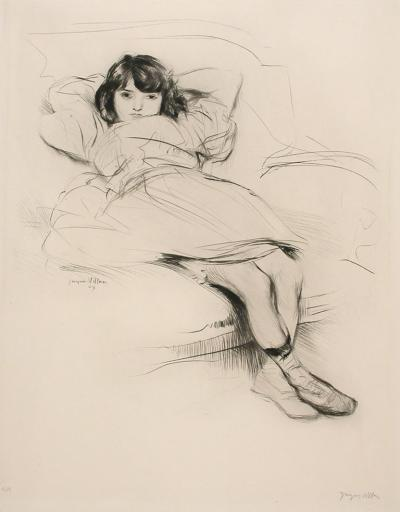 Jacques Villon Renee Au Canape Drypoint Etching by Jacques Villon 1907