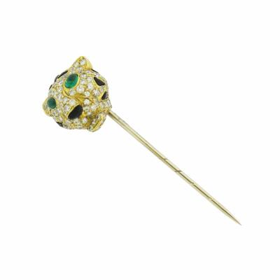 Jaguar Head Stick Pin