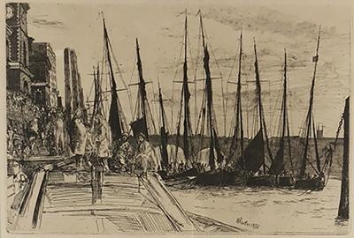 James Abbott McNeill Whistler Sailboats
