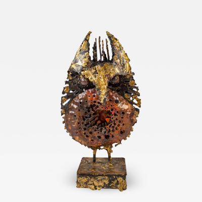 James Anthony Bearden James Bearden Brutalist Owl Sculpture with Stash Box in Base Animals Series
