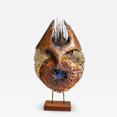 James Anthony Bearden James Bearden Large Scale Brutalist Owl Sculpture from His Animal Series