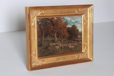 James Desvarreux Larpenteur Oil on Canvas Paturage dans Yonne by James Desvarreux Larpenteur 1847 1947