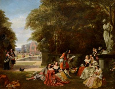 James Digman Wingfield Summer Hill Time of Charles Large 19thC Royal Academy Oil Painting
