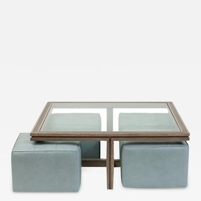 James Duncan Benjamin Coffee Table with Ottomans