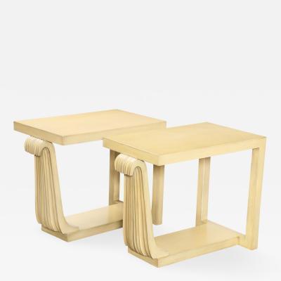 James E Dolena Unique Pair of Side Tables by James Dolena