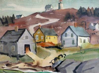 James Edward Fitzgerald Road to the Lighthouse Monhegan Island Maine
